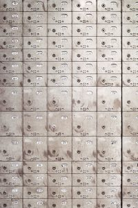 It would be great to move stress-free by locking all that anxiety in this image of mail lockers.