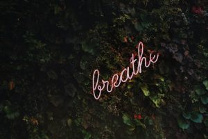 Image of the breathe in writing.