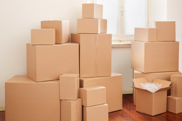 Boxes ready for move