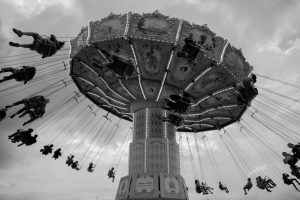 Image of kids at an amusement park.