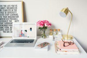 Nicely arranged desk.