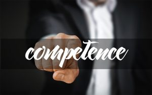 person showing competence
