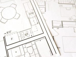 Sketches of a room plan as one of the local moving tips.