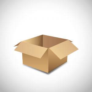 Moving box - something our Coral Gables movers can provide you with.