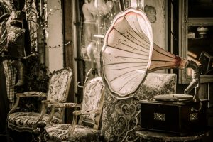Hipster old timey gramophone.