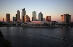 Tampa skyline - something you will see right after moving to Tampa!