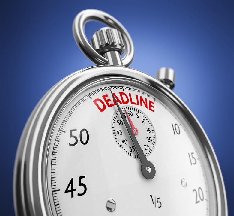 A deadline stopwatch.