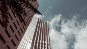 A high rise in Miami Beach, during the day.