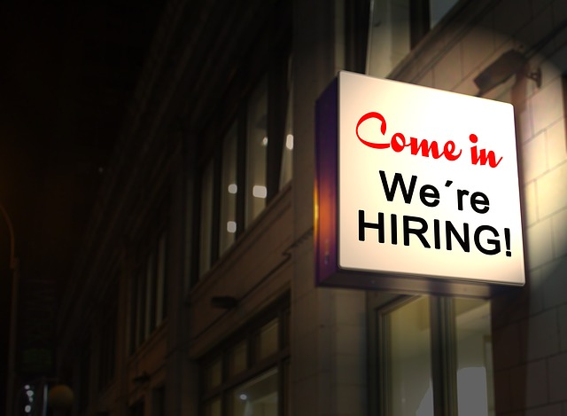 Come in, we're hiring - sign