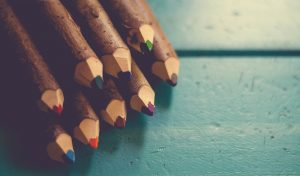 Sharpened pens.