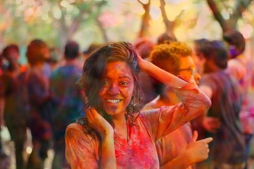 a woman on a festival