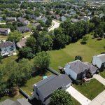 A Birdseye view of a neighborhood