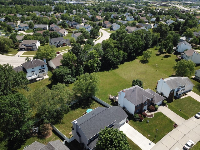 A Birdseye view of a neighborhood