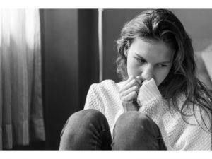 A sad woman