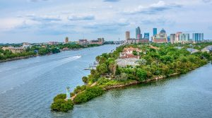 the photo of Tampa bay city skyline