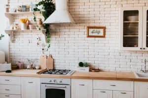 remodeled kitchen in an old home