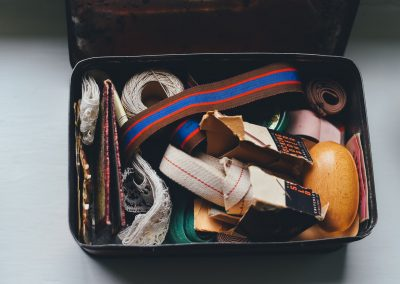 suitcase with items