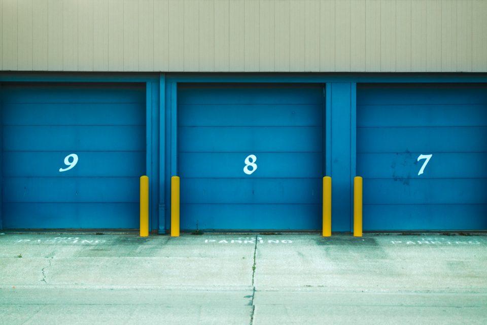 Entrance to storage units