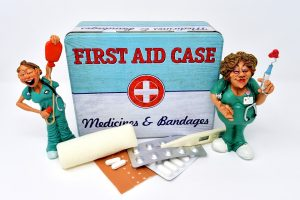 A first aid kit to use when you move a piano.