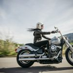 Girl riding a motorcycle