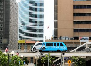 Metromover, one of the best free things to do with kids in Miami.