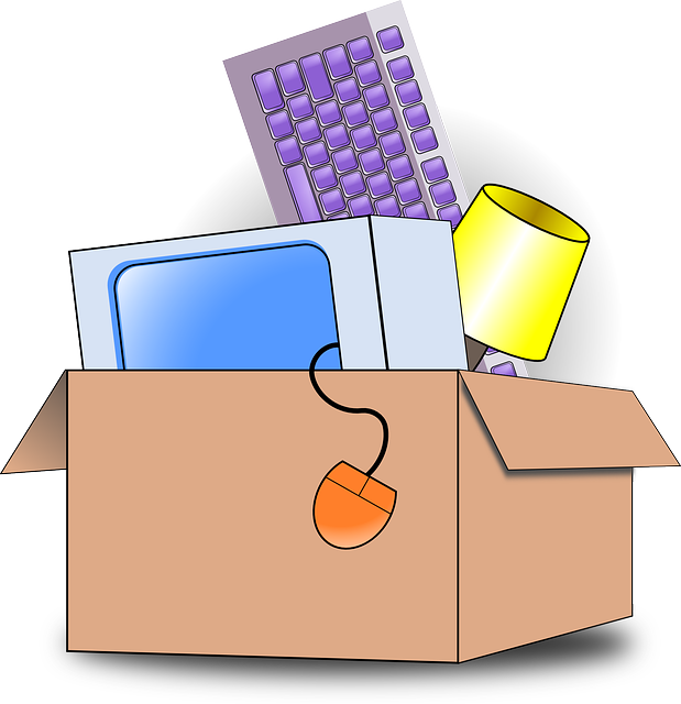 a cardboard box, representing how to unpack efficiently after moving
