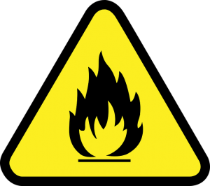 Sign- flammable