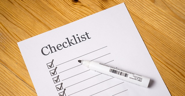 Preparing a moving day list of chores