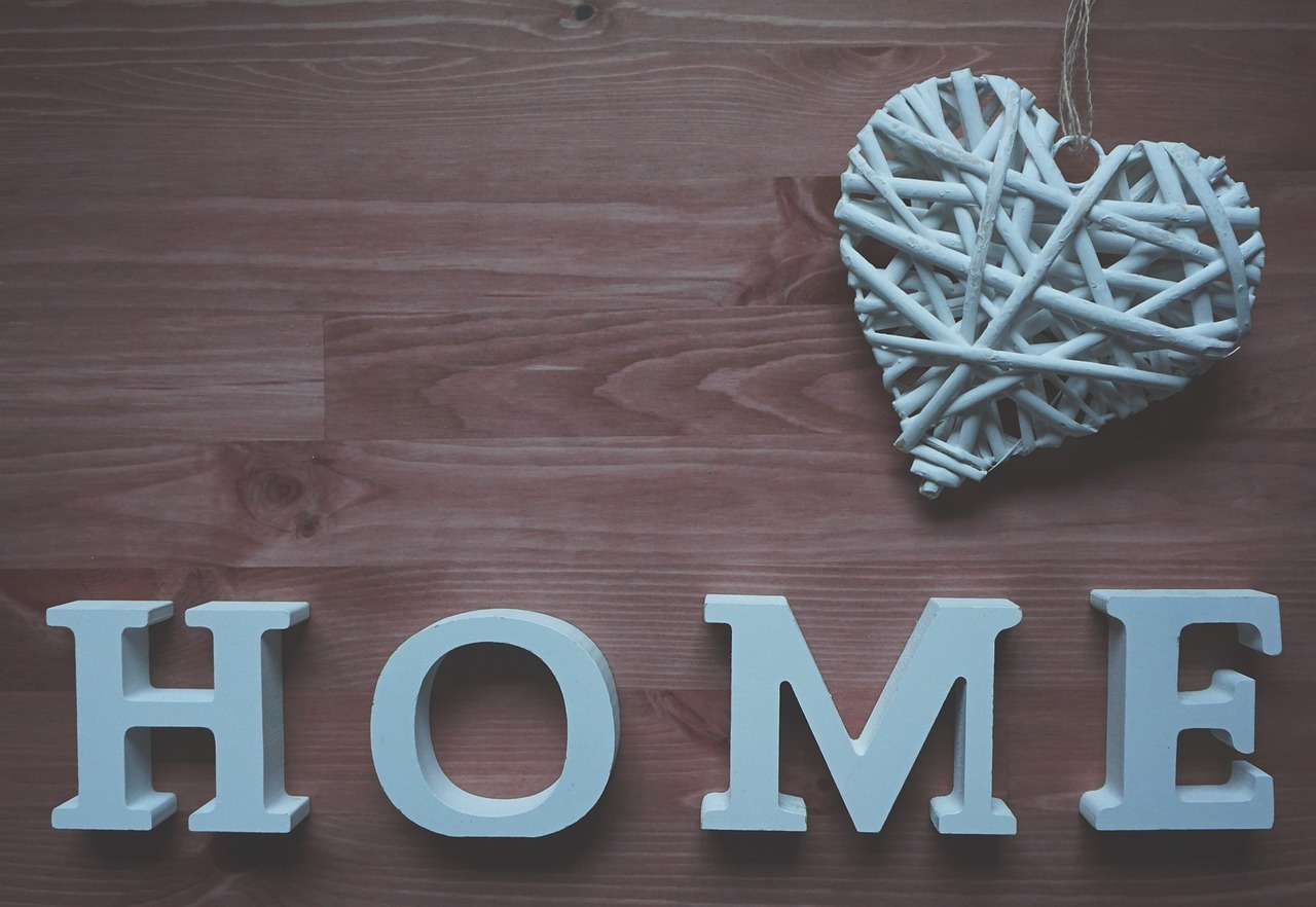 "letters thst say ""home"""