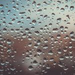 drops of water on glass, representing prevent moisture in your storage unit
