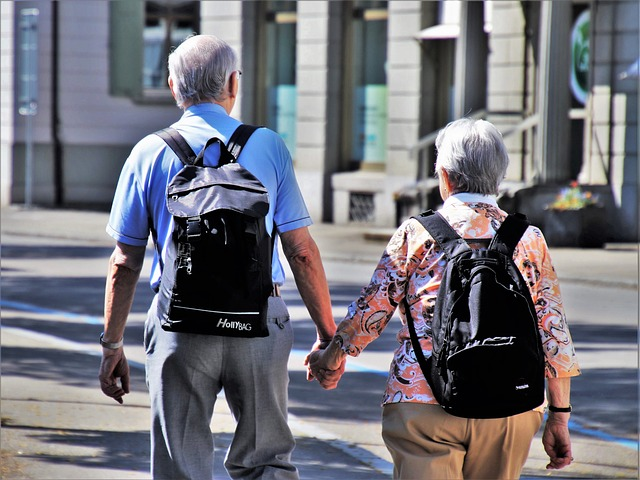 elder people walking around - moving an elderly parent doesn't need to be hard