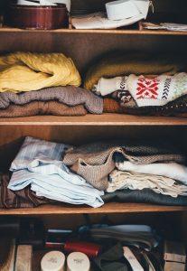 cabinet full of clothes