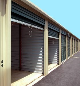 signing a storage rental agreement is very important. entrance to the storage unit
